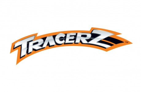 This exciting logo for Top Gear Pty Ltd's kid's club 'Tracerz' was designed to look great on packaging, the website and branded merchandise items.