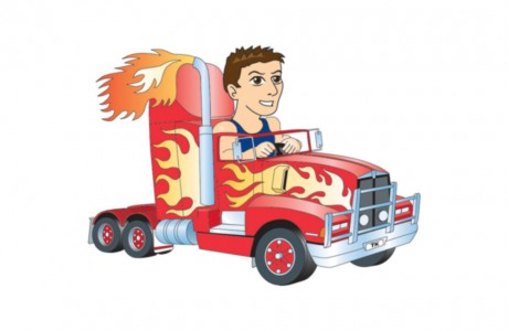 TK is driving a high-powered Kenworth T600 prime mover.